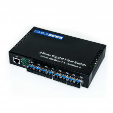 CableRack 8 Port SFP Optical Switch with 8 Singlemode SFP Transceivers