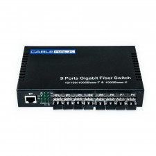 CableRack 8 Port SFP Optical Switch with 8 Multimode SFP Transceiver