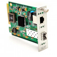 10/100/1000TX to 1000SX/LX SNMP Managed Media Converter Card with SFP Slot