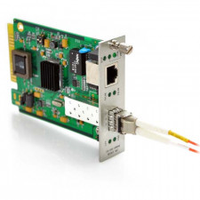 10/100/1000TX to 1000SX SFP with Multimode LC Connector 2KM SNMP Managed Converter Card