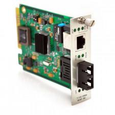 10/100/1000TX to 1000LX Singlemode 60KM SC Connector Media Converter Card
