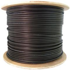Black 1000ft Spool CAT5E CMXT Outdoor Direct Burial Waterproof Tape Solid Cable 350MHz 24AWG