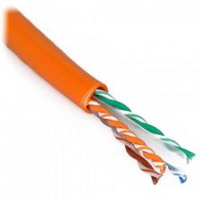 Orange 1000ft Cat6 550 MHz Stranded Bulk Cable 24AWG