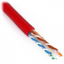 Red 1000ft Cat6 550 MHz Solid Bulk Cable 23AWG