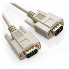 10ft DB9 Male to DB9 Male Straight Through Serial Cable Beige