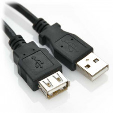 1ft USB 2.0 Extension A Male to A Female High Speed Cable Black