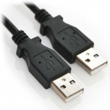 3ft USB 2.0 A Male to A Male High Speed Cable Black
