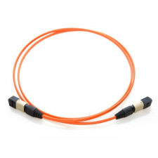 50m MTP 62.5/125 Plenum Rated Multimode 12 Strand Fiber Patch Cable - Orange