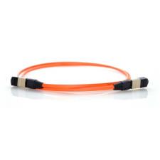 1m MTP 62.5/125 Multimode 12 Strand Fiber Patch Cable - Orange