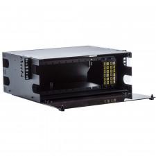 4U LGX Standard 19 Inch 12-Panel Fiber Rack for MTP Cassettes and Fiber Panels