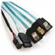 0.5m Mini SAS SFF-8087 Target to 4x SATA Host with Sidebands
