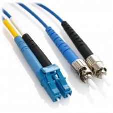 1m LC/ST Duplex 9/125 Singlemode Fiber Patch Cable - Blue