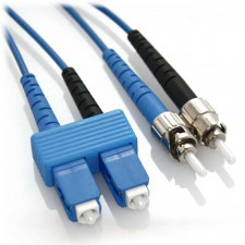 2m SC/ST Duplex 9/125 Singlemode Fiber Patch Cable - Blue