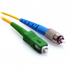 1m SC/APC to FC/UPC Simplex 9/125 Singlemode Fiber Patch Cable Yellow