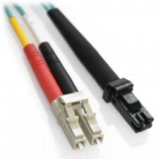 50m LC/MTRJ 10Gb Duplex 50/125 Multimode Bend Insensitive Fiber Patch Cable Aqua