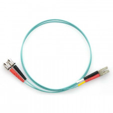 15m LC/FC 10Gb Duplex 50/125 Multimode Bend Insensitive Fiber Patch Cable Aqua