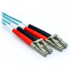 12m LC/LC 10GB Duplex 50/125 Multimode OM3 Fiber Patch Cable Aqua