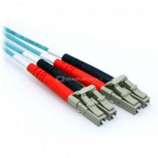 80m 10 Gb Plenum LC/LC Duplex 50/125 Multimode Fiber Patch Cable Aqua