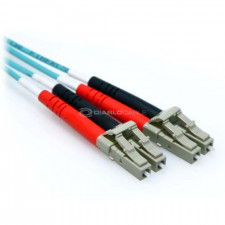 25m LC/LC Plenum 10GB Duplex 50/125 Multimode OM3 Fiber Patch Cable Aqua