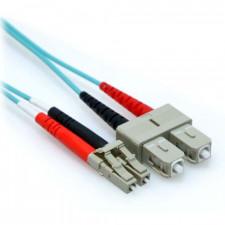 2m 10 Gb Plenum LC/SC Duplex 50/125 Multimode Fiber Patch Cable Aqua