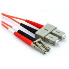 1m LC/SC Plenum Rated Duplex 50/125 Multimode Fiber Patch Cable