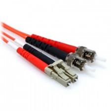 1m LC/ST Duplex 50/125 Multimode Fiber Patch Cable