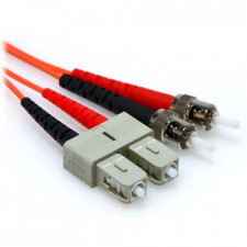 2m SC/ST Plenum Rated Duplex 50/125 Multimode Fiber Patch Cable