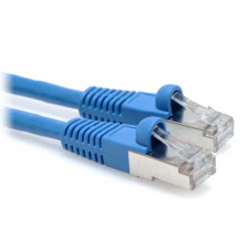 1ft CAT6A 600 MHz 10-Gigabit Shielded Patch Cable - Blue