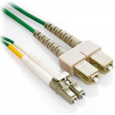4m LC/SC Duplex Plenum 50/125 Multimode OM3 Fiber Patch Cable - Green
