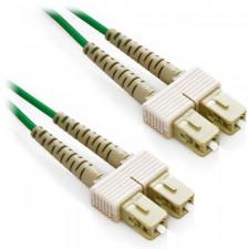2m SC/SC Duplex 50/125 Multimode Fiber Patch Cable - Green