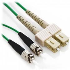 1m SC/ST Duplex 50/125 Multimode Fiber Patch Cable - Green
