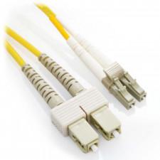 3m LC/SC Duplex 62.5/125 Multimode Fiber Patch Cable - Yellow