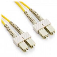 2m SC/SC Duplex 62.5/125 Multimode Fiber Patch Cable - Yellow
