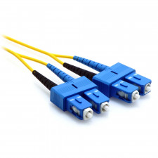 25m SC/SC Duplex 9/125 Single Mode Fiber Patch Cable Yellow