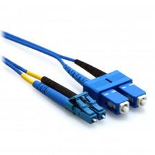 blue lc to sc fiber