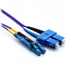 3m LC/SC Duplex 9/125 Single Mode Fiber Patch Cable Purple