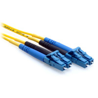 2m LC/LC Duplex 9/125 Single Mode Fiber Patch Cable Yellow